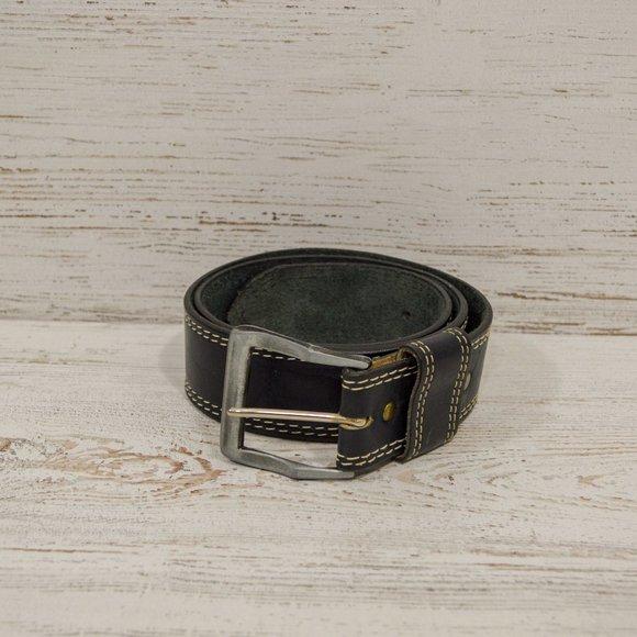 Levis Black Leather Men's Belt